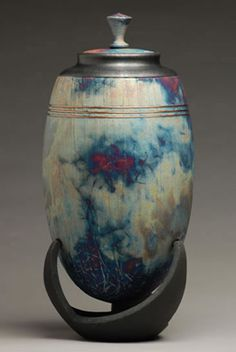 Infinity Copper Raku Cremation Urn