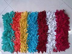 alfombra-tela-hagamos-cosas Tela, Handmade Rugs, Hipster Stuff