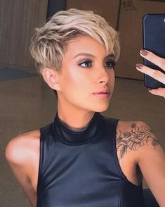Stylish Short Haircuts, Long Pixie Hairstyles, Short Haircut Styles, Short Pixie Haircuts, Pixie Cut With Undercut, Undercut Pixie Haircut, Blonde Pixie Haircut, Pixie Cut Styles, Super Short Hairstyles