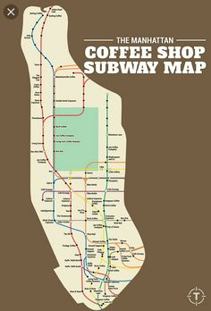 our friends at thrillist recently made this map of the best coffee shops within 5 minutes walking from every manhattan subway station once upon a time
