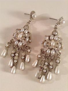 Vintage Jewelry Earrings Pierced Unworn Faux by LemillesimeChic