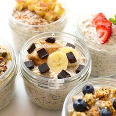 5 Ways to Top Your Overnight Oats + Vanilla Bean Overnight Oat Recipe