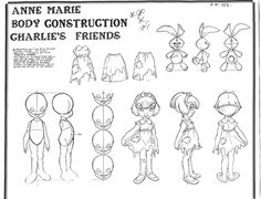 All Dogs Go to Heaven (1989) Model Sheets - Anne Marie