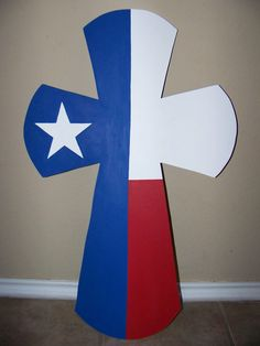 Easy to make.....Texas flag cross out of plywood.