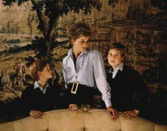 One of my favorite portraits of Princess Diana with her boys — reminds me a bit of 1950s high society photos — very muted but not stuffy or contrived.