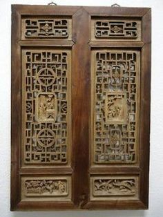 chinese screens room dividers | Panel Chinese Antique Carved Wooden Lattice  Screen Room Divider