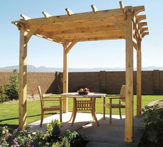 How to Build a Backyard Pergola: Simple DIY Woodworking Project  Step-by step plans to make an arbor-like cedar structure, with 3D animation and master-level blueprints. Be sure and download the pdf.