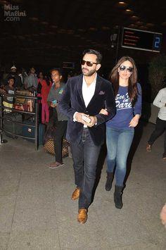 When Saif Ali Khan & Kareena Kapoor are together, their style can set any room on fire. Muslim Fashion, Bollywood Fashion, Vogue Fashion, Mens Fashion, Saif Ali Khan, Stylish Couple, Stylish Dresses For Girls, Kareena Kapoor Khan, Most Beautiful Indian Actress