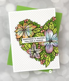 Stamped Paper Piecing Video by Jennifer McGuire Ink Jennifer Mcguire Ink, Memory Box Cards, Miss You Cards, Cards For Friends, Friend Cards, Card Making Techniques, Card Making Inspiration, Flower Cards, Clear Stamps