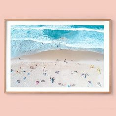Bondi Beach Print Ariel Interior Print Photography Print Aj Photography, Beach Interior Design, Print Place, Bondi Beach, Beach Print, Ariel, Interiors, Display, Fine Art