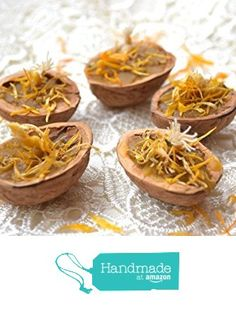 Floating candle Wedding favors Walnut shell candle with calendula 5 pcs Pure beeswax candle Eco Tea light scented candle Herbal candle party favor gift for woman Rustic lighting Wedding favor from KatrinHandmadeGifts
