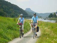 Radfahren im Elbsandsteingebirge: Fahrradtouren an der Elbe zwischen Heidenau & Schöna / Schmilka - Elberadweg