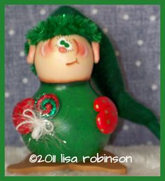 hAnD pAiNtEd cHriStMaS eLf GoURd hp WiNtEr gNoMe by primchick, $25.00