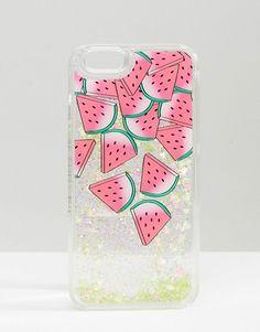 Skinnydip Watermelon Liquid Glitter iPhone 6/6s Case