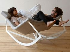 Rocking chair built for two! This would be amazing! :D
