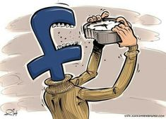 65 Satirical Illustrations Show Our Addiction To Technology These are great. I really love how people use satire in cartoons and can make light of the social media epidemic. Caricature, Pictures With Deep Meaning, Deep Images, Technology Addiction, Social Media Art, Satirical Illustrations, Satirical Cartoons, Art Illustrations, Meaningful Pictures
