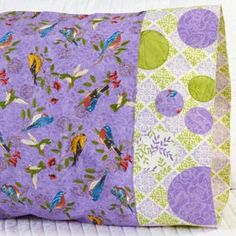 Fabric: Tend the Earth by Deb Strain for Moda Fabrics. Pillowcase Pattern 25. Free download here: http://www.allpeoplequilt.com/millionpillowcases/freepatterns/index.html