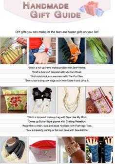 A dozen handmade gifts for tween teen girls best tween teen 16 free diy tutorials for gifts you can make for the teen and tween girls on solutioingenieria Image collections