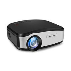 """TANGCISON Video Projector, LCD Projector 1500 Luminous 160""""HD 1080P Projector Multimedia Home Theater Movies Projector for Cinema TV Laptop Game With HDMI USB VGA AV Input (Black). Toss screen range:30-160 inches (best size 50 - 120 inches) Show compose: 5.8"""" Single LCD Panel Display Technology Light Life: 50000, best offer #projectorscreen"""