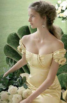 Vestido de novia amarillo suave - Abito sposa colorato