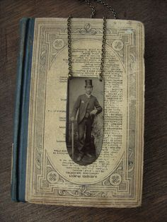 Victorian Portrait Tintype Necklace  Bill the by luminoddities on Etsy.