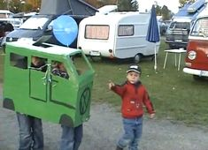 Fun Recycled Craft Idea--a Box Car-from a VW Show in Germany :)