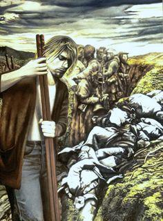 NADA ACKEL. LE MUSICIEN ET SES CHERS DISPARUS, 2000. Huile sur toile (oil on canvas), 100x130 cm.