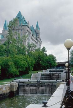 Rideau Locks, Ottawa, Ontario, Canada. Chatted to a nice couple as they leisurely waited for each lock to fill.