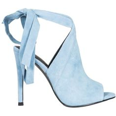 Turquoise Evelyn Sandals ($110) ❤ liked on Polyvore featuring shoes, sandals, blue, womenshoessandals, turquoise shoes, strappy high heel sandals, peep-toe shoes, adjustable strap sandals and peep toe shoes