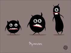 My monsters by Ann , via Behance
