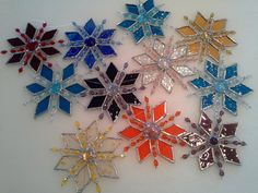 stained glass snowflake by glassandthings on Etsy