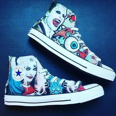 18a21c4ca6f27f Check our these custom Suicide Squad kicks we sent out this week! Create  your own