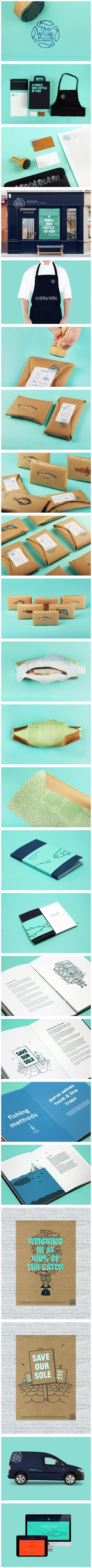 The Whole Catch by Cameron Turnbull, via Behance..