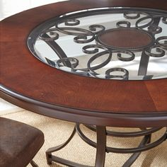 Torino 45-inch Round Dining Table | Overstock.com Shopping - The Best Deals on Dining Tables