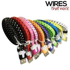 Wires That Work 3366956 Braided Nylon 8 Pin to USB Lightning Charging Cables for iPhone Plus, iPad 4 Mini, iPod Touch 7 - 2 Pack - Assorted Colors Car Accessories For Women, Accessories Store, Ipad Ios, Apple Iphone 5, Iphone 6, Charging Cable, Gifts For Boys, Ipod Touch, Usb