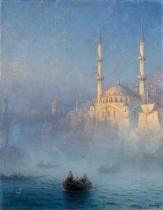 Ivan Aivazovsky (1817-1900) , le port de Constantinople