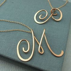 14k gold filled Calligraphy Necklace. Such a great gift idea!