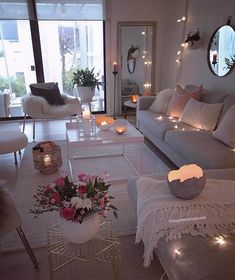55 cozy living room decor ideas to copy 7 ⋆ All About Home Decor Cozy Living Rooms, Apartment Living, Home And Living, Living Room Decor, Bedroom Decor, Small Living, Cozy Apartment, Living Room Ideas, Decor Room