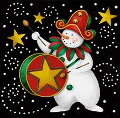 Carnival Snowman 4 by Stephanie Stouffer | Ruth Levison Design