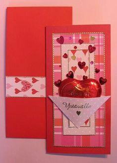 Ystävän kortti suklaalla