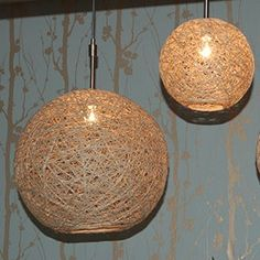 DIY Hanging Hemp Lamp