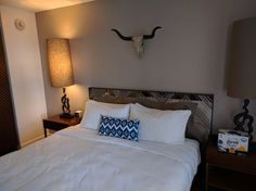 Bedroom at the V Hotel in Palm Springs. Unfortunately the bullhorns could not be straddled.