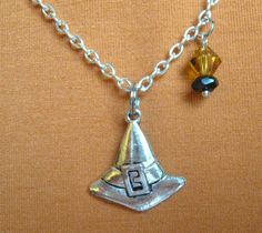 The Witch Has Lost Her Hat necklace. $17.00. Halloween is right around the corner, are you ready?!