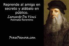 Frases de Leonardo Da Vinci - Frases de Amistad - Frase Famosa