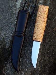 Kokemäen puukko with sheath by Sami Länsipaltta