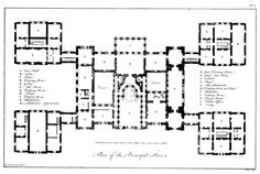 Plan of Holkham Hall, England