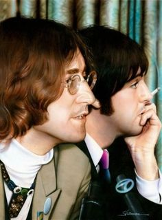 John and Paul from the Press Conference in NYC announcing the formation of Apple Corp.