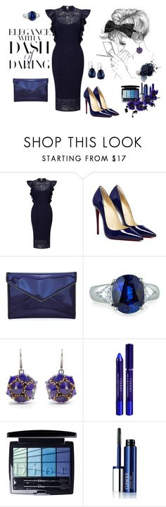 """Blue elegance dress"" by amra83 ❤ liked on Polyvore featuring TFNC, Rebecca Minkoff, Fantasia by DeSerio, Bottega Veneta, By Terry, Christian Dior, Clinique and 2028"