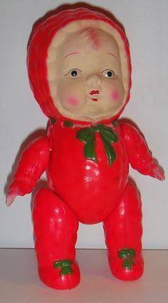 Celluloid Christmas Doll