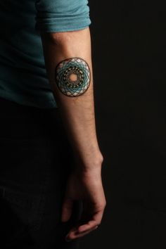 radial design #arm #tattoos